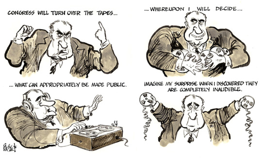 Watergate Political Cartoons 1974